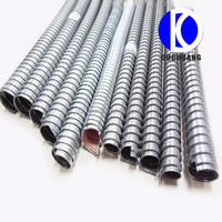 Industry Parts Electrical Equipment And Supplier Cable Protect PVC Coated Single Lock Metal Galvanized Steel Flexible Conduit