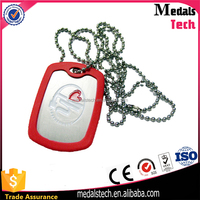 Promotional Cheap Stainless Steel Anodized aluminum pet tag silencer with ball chain