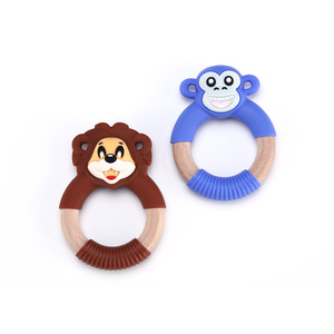BPA Free custom food grade Lion silicone baby chewing teething toys