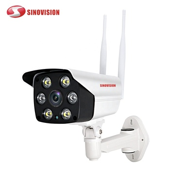 Sinovision H.265 HD 2.0MP Bullet Waterproof Wireless IP Camera 6pcs Array LEDs IR Night View Video CCTV Camera