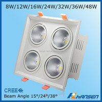 8W High power square COB led Bean Pot lamp led bold lamp LED venture lamp