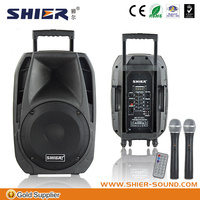 professional line array speaker box with MP3/USB/SD/Bluetooth/Microphone/Battery