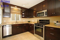 Solid Wood Walnut Kitchen Cabinets/Modular Picture Of Kitchen Cabinets