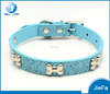 adjustable 17 to 21 inch durable leather studded pu leather dog collar
