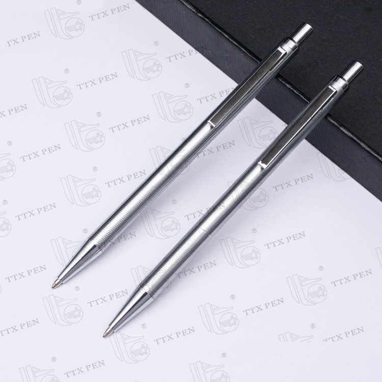 Personalized Advertising High Quality metal slim hotel pen Custom Printed Pens