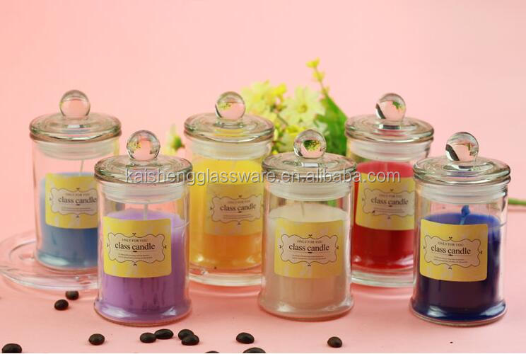 Home Decoration Use metro jars for candles , candle with glass jar for scented massage