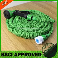 High Quality 25FT Stretch Garden Hose Water Magic Hose Expandable shrinking garden pipe with 8 function Spray Gun