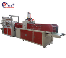 The SS-GFQ color 2 lines Heat Sealing Cold Cutting HDPE plastic polythene shopping/T-shirt Bag making Machine price