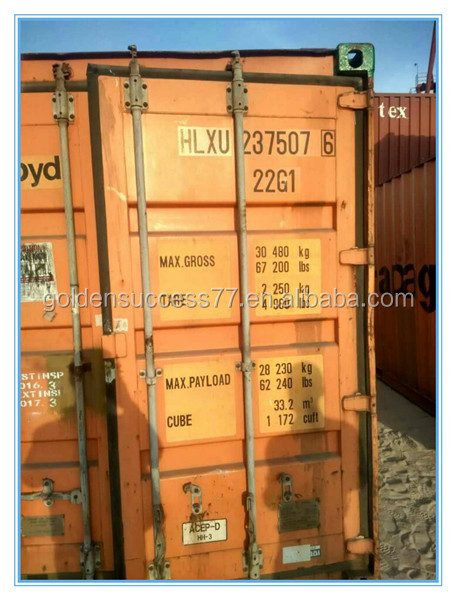 20ft used shipping container for sale