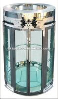 Curved glass panel / round elevator glass / en12150 approved