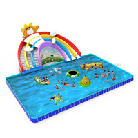 Cheap inflatable water slide with pool amusement park inflatable slides