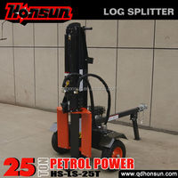 2014 Hot selling 100L three position with auto-return control valve recoil garden tool 25ton gasoline engine wood splitter