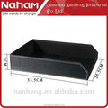 NAHAM custom unique design decorative leatherr file letter tray