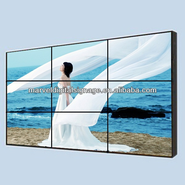 55 inch video wall indoor remote control split screen display