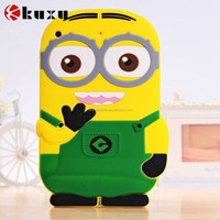 3D Cute Cartoon New arrival Despicable Me 2 Minion 3D Soft Silicone cover Case For Apple ipad mini 3/2/1 Rubber case