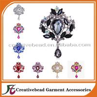 Rhinestone Bridal Crystal Vintage Flower Brooch Pin Brooches