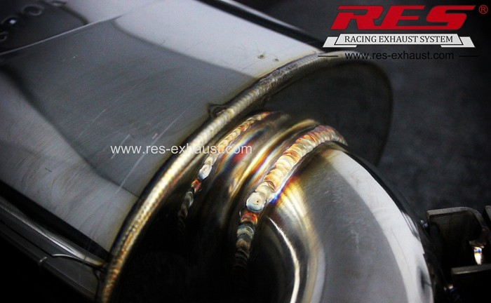 Factory low price gr2 titanium tail section exhaust pipe for Benz A180 from China manufacturer