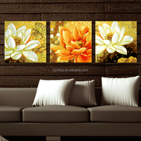 Group oil paint drawing set flower art painting for wall decoration