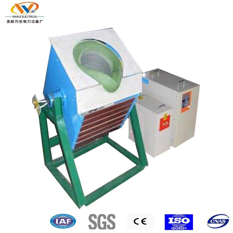 laboratory use 15kg electric induction gold melting crucible tilting furnace