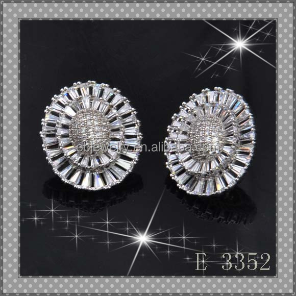 Guangdong fashion dropship silver earring for widding part from alibaba