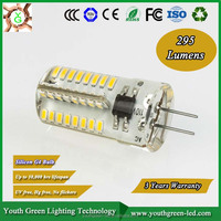 Five years warranty CE RoHS U l TUV ERP g4 led lamp for home 1.5w CE ROHS 24pcs smd3014 led G4 silicone led light 12v G4 Led