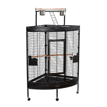 Large Corner Playtop Bird Cage w/ Stand and Wheels