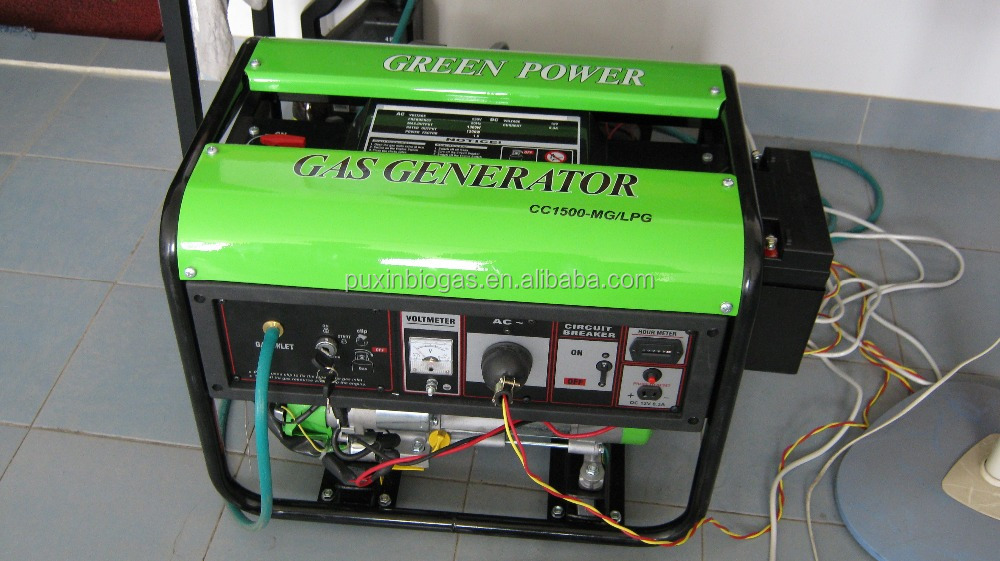 1.5kw biogas generator for electricity generating