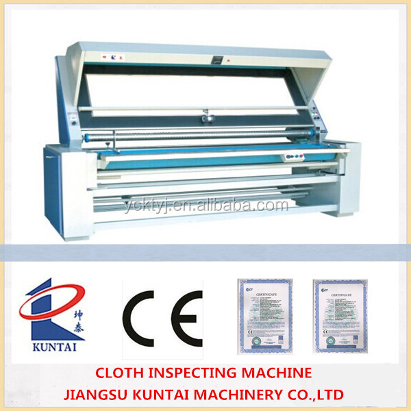 Automatic Edge Fabric Inspecting Machine and length measured