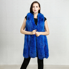 2017 new products from China wholesale customization winter sexy women warm real knitting fox fur vest trade for winter women