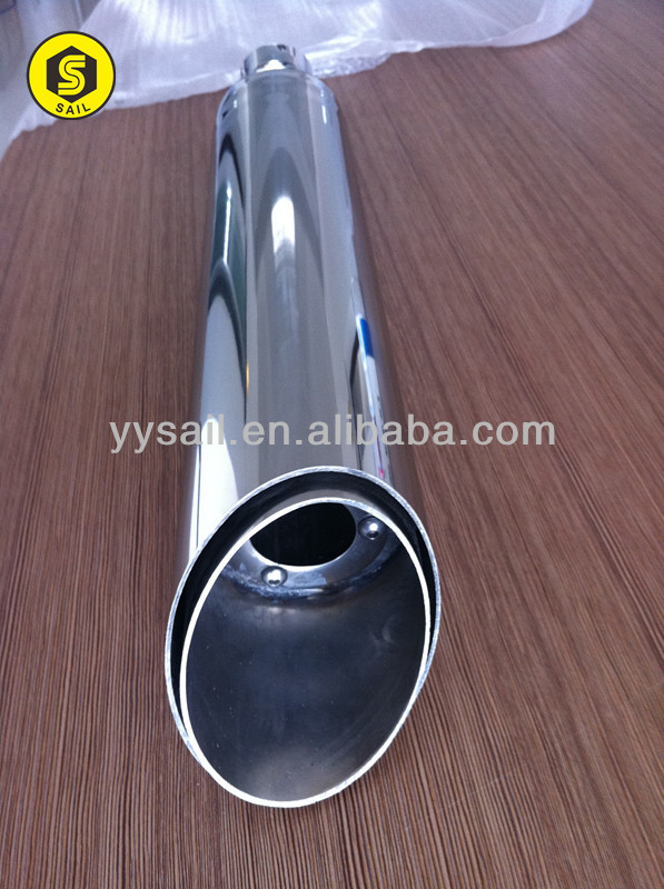 Motorcycle performance muffler part as per design