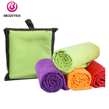 Customized logo quick dry microfiber travel towel and sports towel