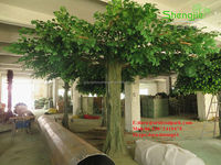 China factory make huge large artificial oak trees fake plastic landscaping trees for sale
