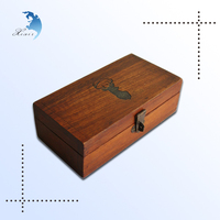 wholesale unfinished hinged lid cheap fancy solid empty wood dry red wine gift box