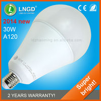 high quality e27 30w light led bulb with low price A120 led lamp