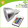 16 changing colors high power led 3w rgb mr16 led lamps with memory functions