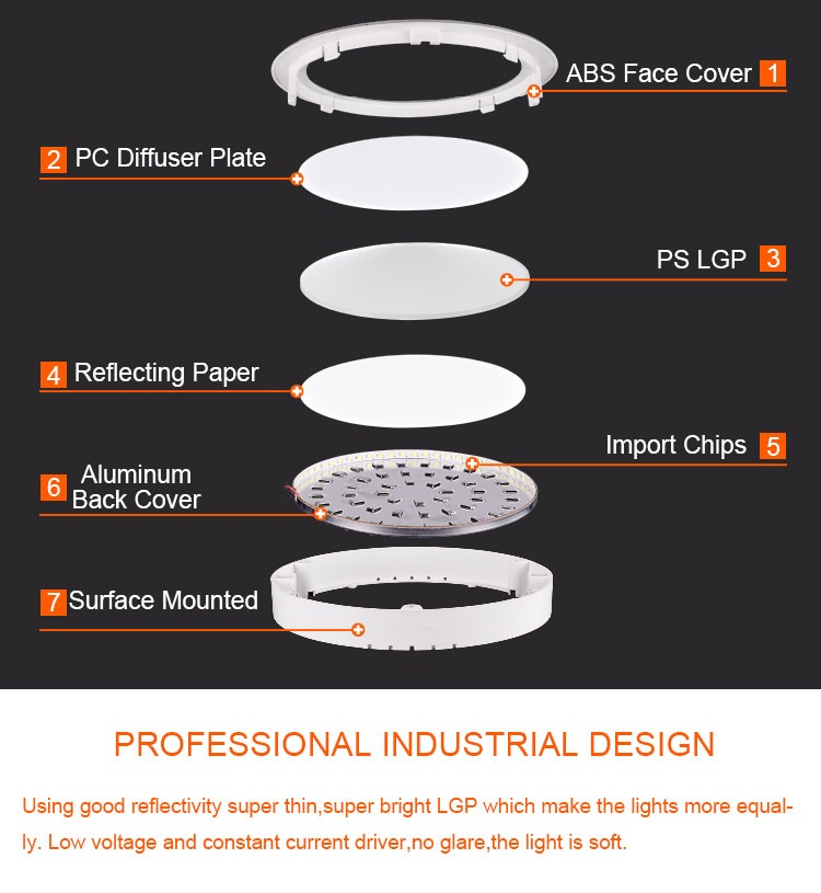 Hot style 2 in 1 surface mounted 12 watt led ceiling panel light price
