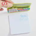 2018 custom size and shape sticky note pad+sticky notes memo pad with pen