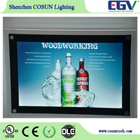 China Advertising Crystal LED Lightbox, Real Estate Agent Window Display