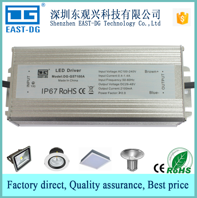 G57100A china manufacturer low price good quality IP67 IP66 IP65 waterproof electronic led driver 48Vdc constant current 100W