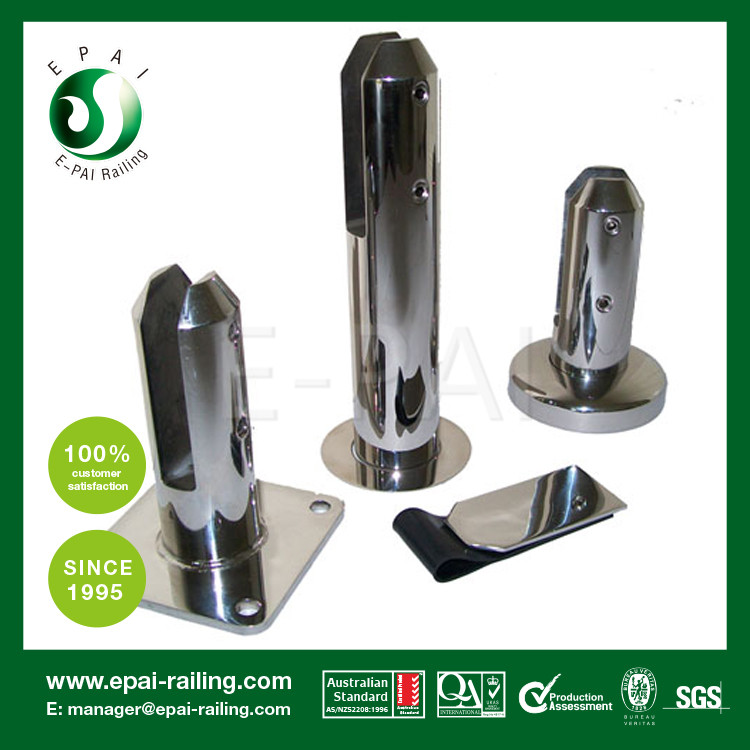 Pool fenceing safty stainless steel spigot /glass clamp