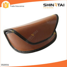 Leathe Material and dark brown Color leather glasses case