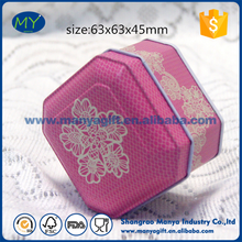 Custom made small wedding souvenir square tin box for candy packing