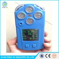 Portable Multiple Gas Detector/Alarm/Monitor 4 in 1 (CH4, O2, CO, H2S)