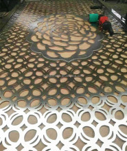 zinc cladding panels perforated metal wall cladding panels decorative perforated steel panel