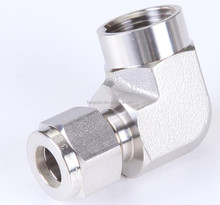 90 degree elbow fittings/tube to female thread elbow fitting/forged ss316 elbow fittings