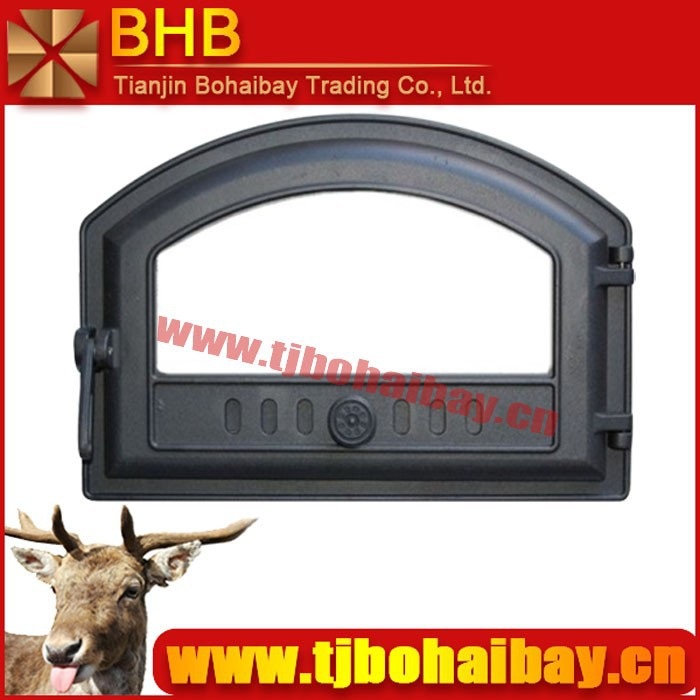 More types to choose wood burning cast iron fireplace glass door