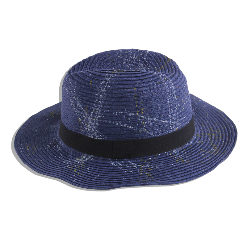 ODM and OEM paper straw hat elegent jazz hat from China factory wholesale blank hat