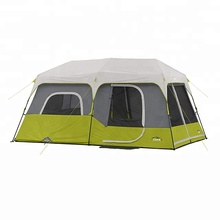 Double layers waterproof family camping tent for 9 persons