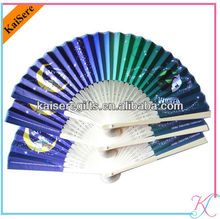 Fancy hand fan promotion bamboo hand fan