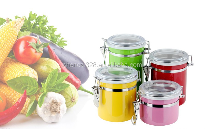 promotional cheap stainless steel kitchen canister set